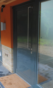 Entrance door alu clad